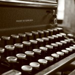 Typewriter - copyright Geraldine Eliot
