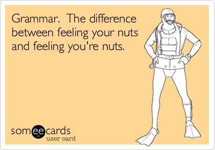 Cartoon about Grammar