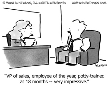 Cartoon about resumes